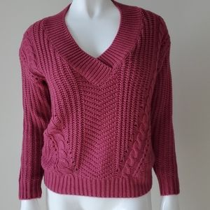 Philosophy pink v-neck sweater